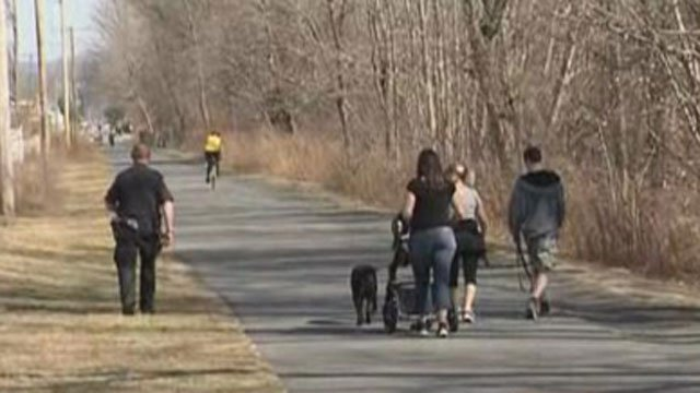 Police searched the Farmington Canal Trail for John Sample. (WFSB)