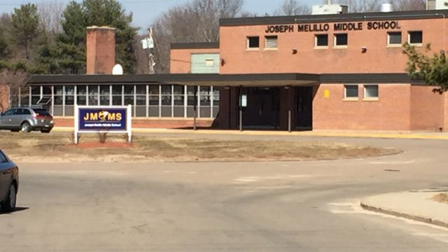 """Police are investigating an incident of """"inappropriate touching"""" at Joseph Melillo Middle School. (WFSB)"""