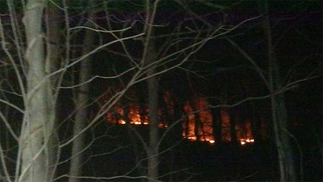 Firefighters in Portland battled a large brush fire on Wednesday evening. (Portland Fire Department)