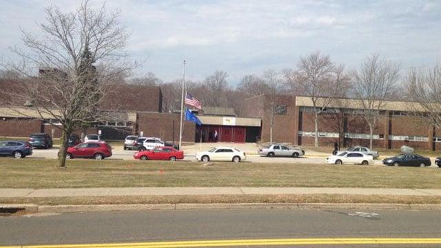 Platt Tech was evacuated on Thursday morning due to a bomb threat. (WFSB photo)