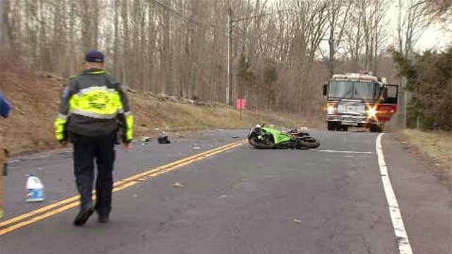 Police are investigating a motorcycle crash that happened on the Chamberlain Highway in Berlin on Thursday afternoon. (WFSB)