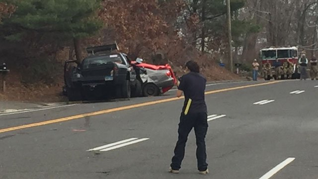 One person is dead after a crash on Route 69 on Thursday afternoon. (WFSB)