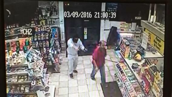 North Haven gas station ribbed at gunpoint.