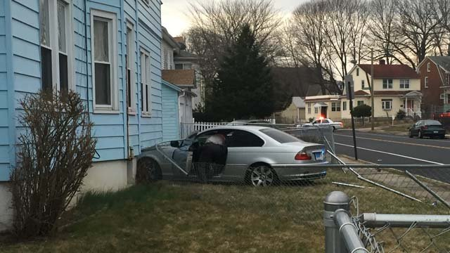 The crash was seen on West Preston Street at about 5 p.m. (WFSB)