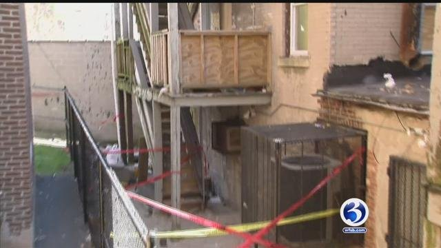Residents at 700 Albany Avenue were displaced after a building collapse on Friday. (WFSB)
