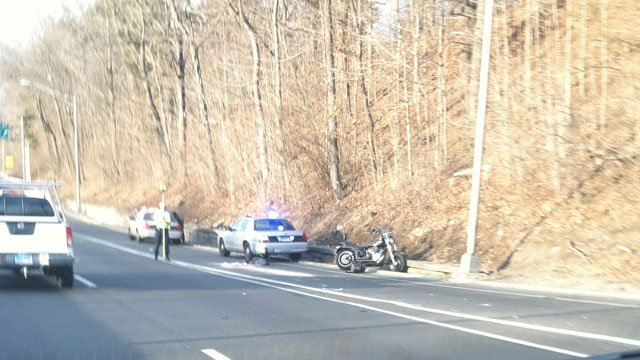 iWitness viewer sent in this picture of the crash on Route 8.