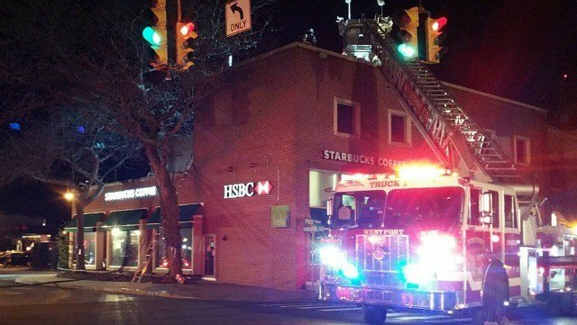 Westport firefighters respond to roof fire (Westport Fire)