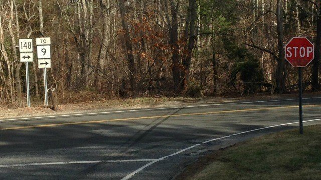 A Westbrook man was killed at the intersection of Route 148 and Route 145 when his vehiclehit a tree. (WFSB)