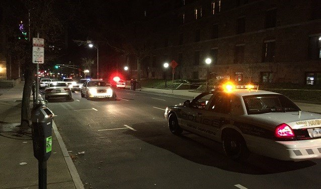A 23-year-old man was taken to the hospital on Sunday evening after being shot in the shoulder and leg in New Haven. (WFSB)
