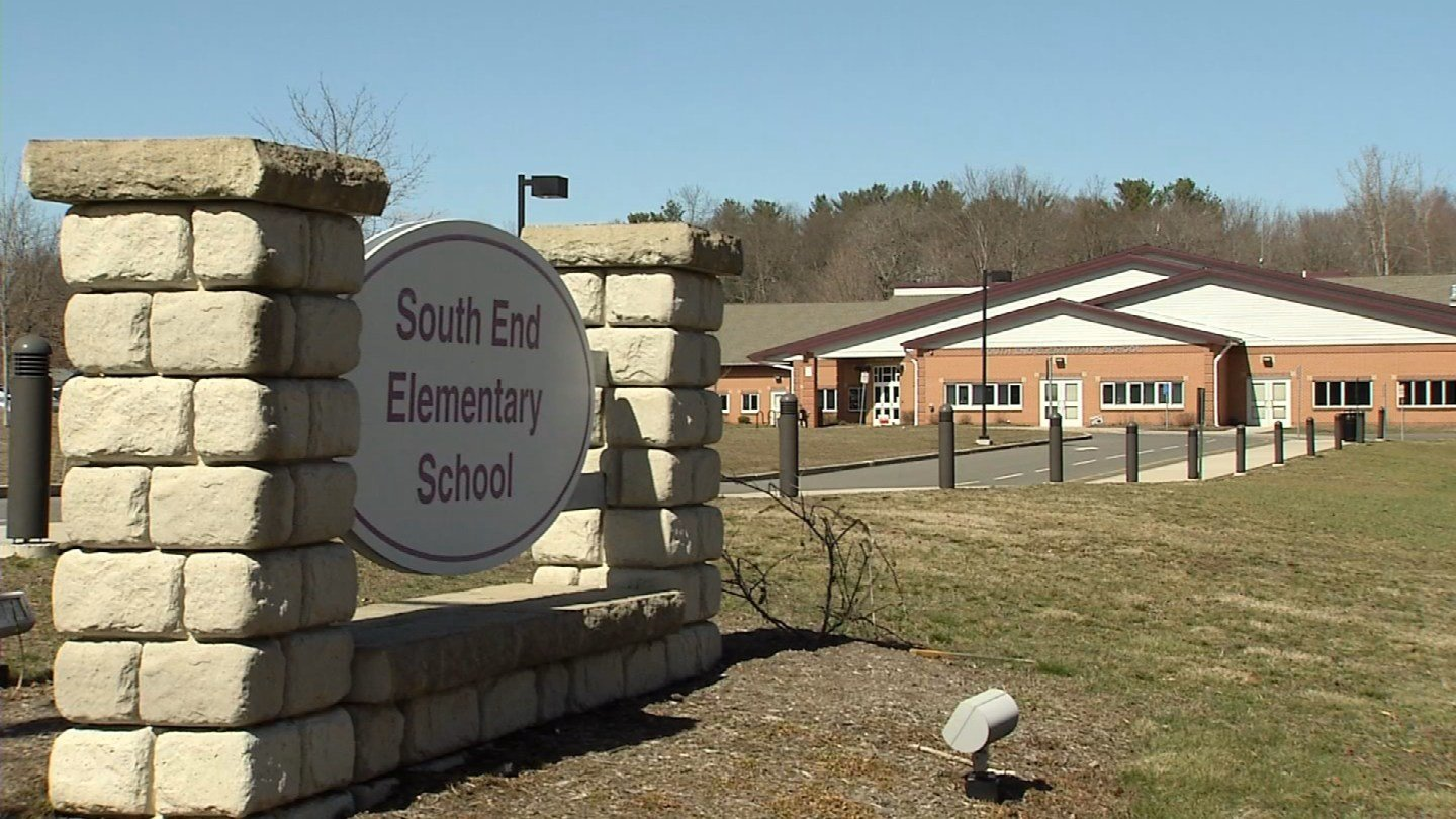 A water drive was held at the South End Elementary School in Plantsville over the weekend. (WFSB photo)