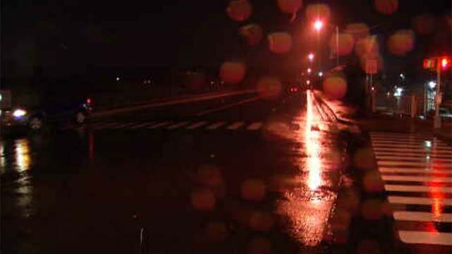 Police in Ansonia are searching for a white work van involved in a hit-and-run reported this evening. (WFSB)
