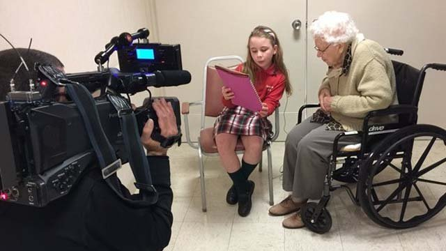 The students had to write a biography about someone they just met, but in the end it wasn't just a lesson for the class, but it became a life lesson for everyone. (WFSB)