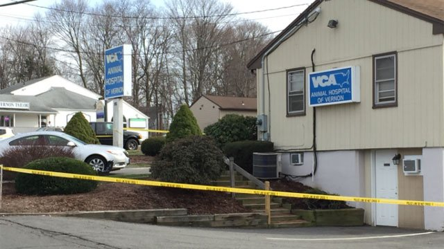 Police are investigating an armed robbery at Animal Wellness Center of Vernon. (WFSB)