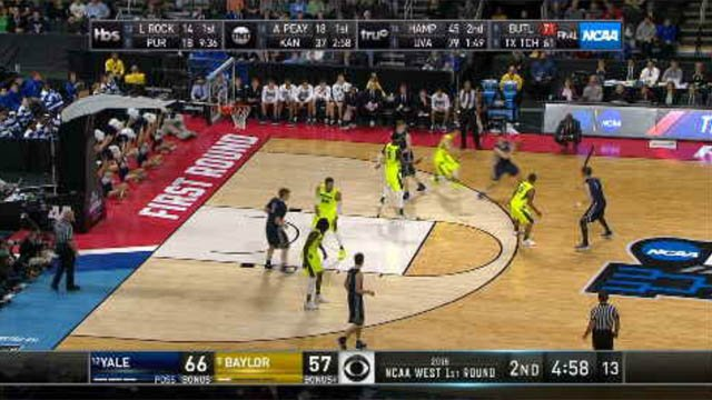 After 54 years, Yale made it into the tournament and took on Baylor on Thursday. (WFSB)