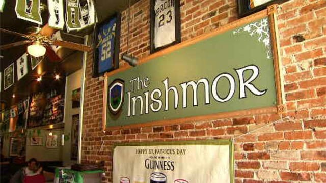 The Inishmor is a bit more popular this year thanks to a Buzz Feed breakdown of the best Irish bars in each state. (WFSB)
