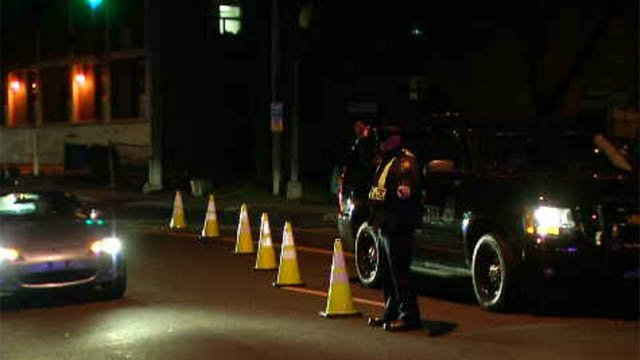 Hartford police set up roving patrols in the city on Thursday to make sure everyone was traveling safely. (WFSB)
