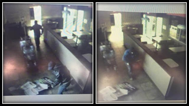 Connecticut State Police are looking for more information on two men accused of a burglary at a Dunkin Donuts in Columbia. (CT State Police)