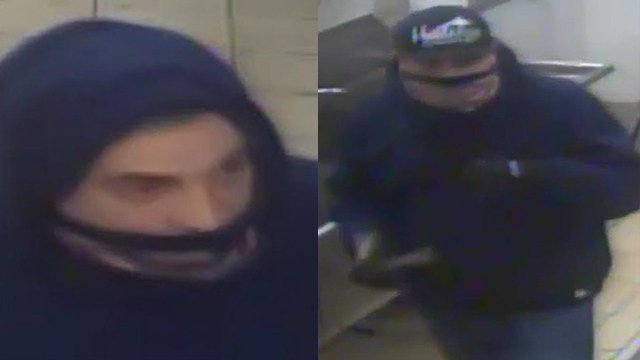 Two suspects burglarized a restaurant in Meriden on March 17. (Meriden police photos)