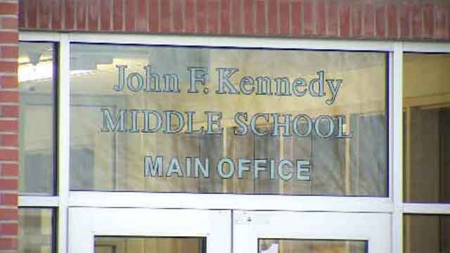 All after-school activities were canceled in Enfield on Wednesday after the report of a suspicious couple in the area of JFK Middle School. (WFSB)