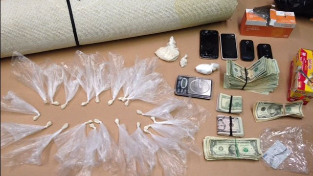 The following items were seized during two arrests in Groton Town and Groton City. (Groton City Police)