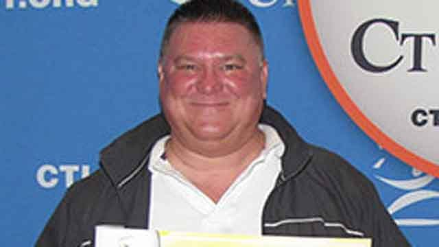 Robert Unikewicz claims $50,000 after winning drawing on Dec. 5. (CT Lotto)