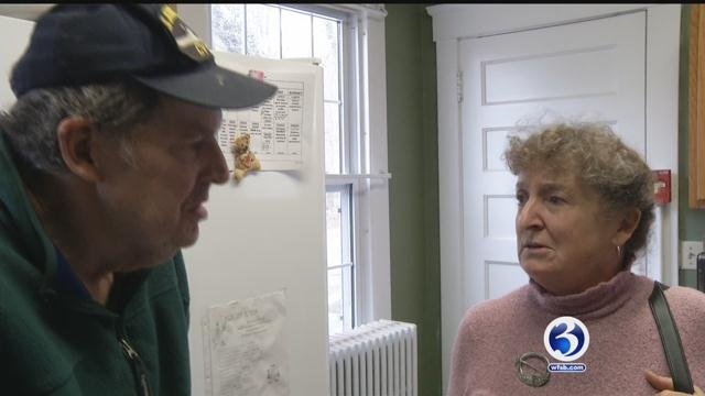 Katriona MaCauslan visits her brother Sandy at a group home run by BHcare in Branford. (WFSB)