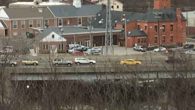 Traffic was flowing in both directions on Route 8 in Seymour after two crashes. (WFSB)