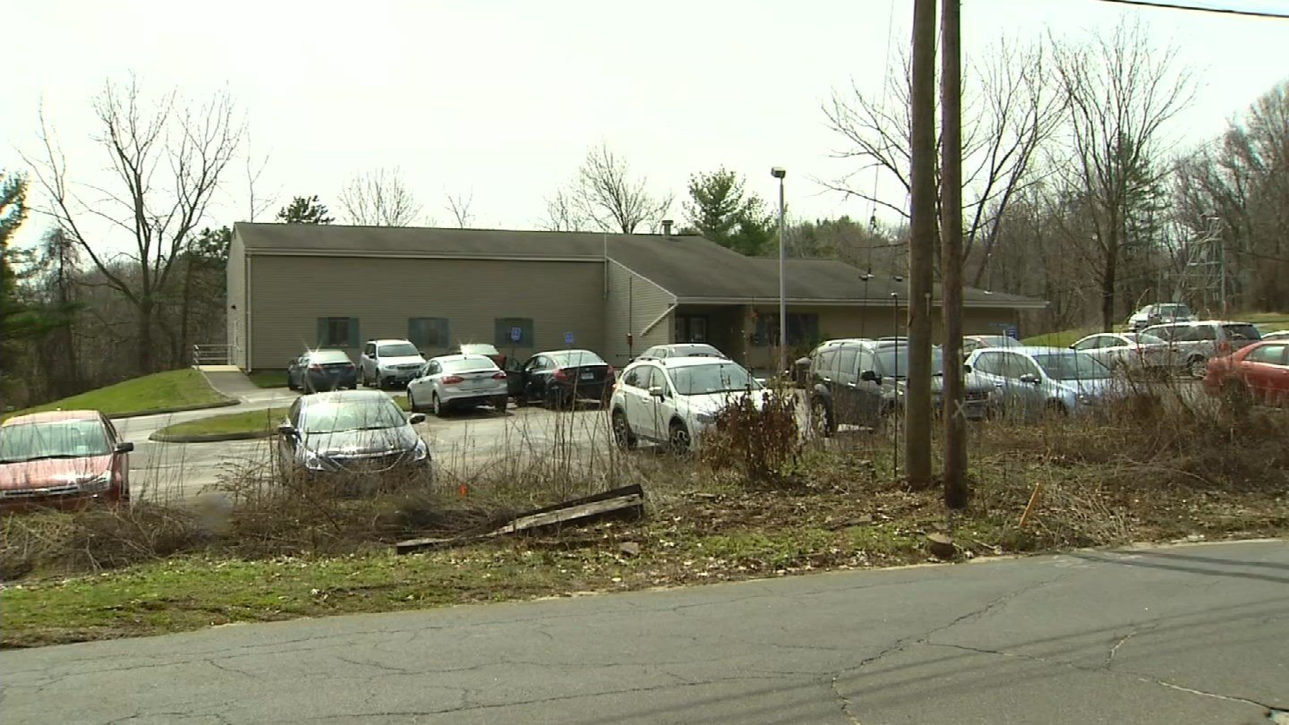 The DDS regional center in Meriden is one of two slated to close amid budget cuts. (WFSB photo)