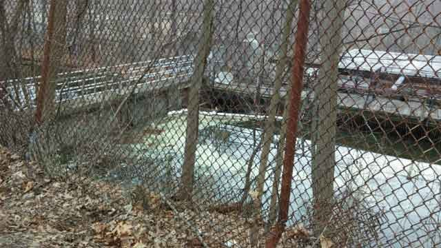 DEEP officials said paint fell into a river in Ansonia. (WFSB)