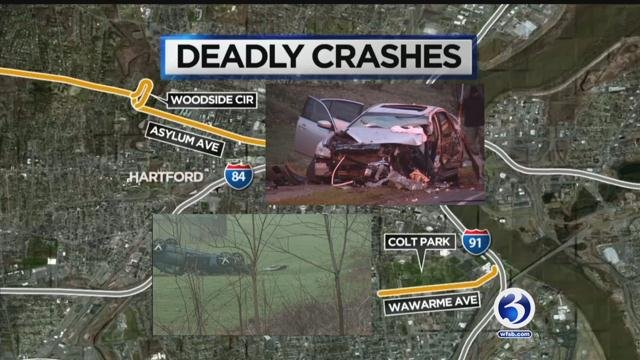 Speed could have factored into two deadly crashes in the capitol city Friday. (WFSB)
