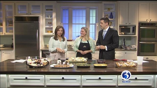 Kim and Mike cook Blueberry-Stuffed French Toast with Molly Devanney from Highland Park Market