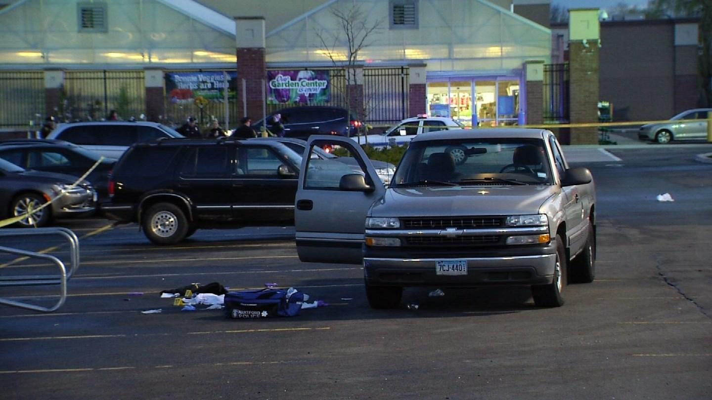 A man was shot at a Walmart in Hartford Monday night. (WFSB photo)