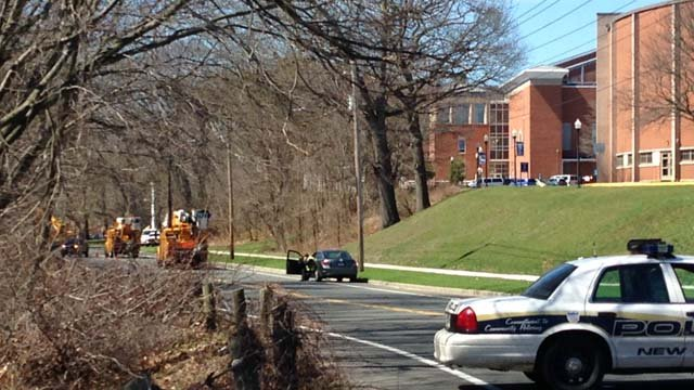 Power knocked out to parts of Southern Connecticut State University. (WFSB photo)