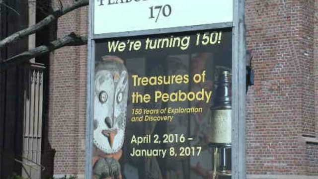 """The Yale Peabody Museum of Natural History will kick off the festivities with a major exhibition called """"Treasures of the Peabody,"""" which will run through Jan. 8. (WFSB)"""