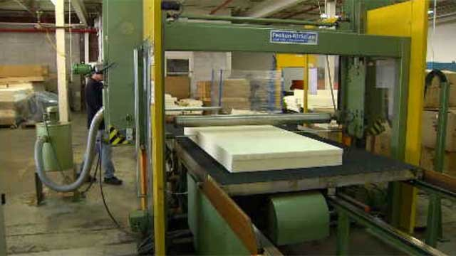Nancy Coffy has been in business for 11 years and she makes latex foam, which is used in a lot of bedding and furniture. (WFSB)