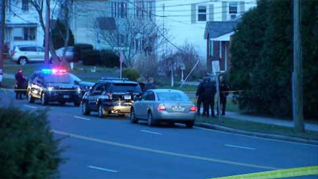 Multiple police cars were seen in the area at about 7 p.m, and the road was closed between Westgate Street and Vine Hill Road. (WFSB)