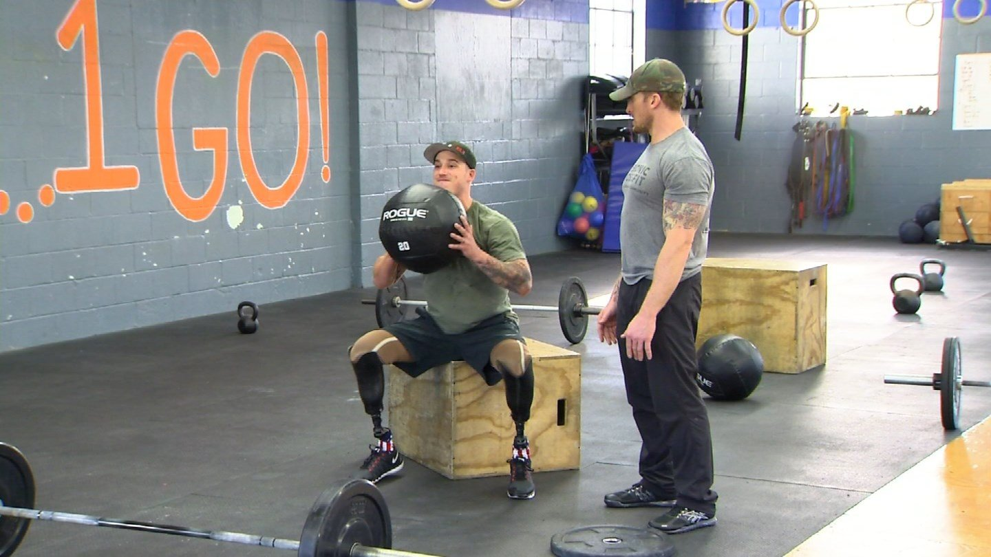 Wounded veteran Greg Caron said Crossfit helped him get out of a dark place in his life. (WFSB photo)
