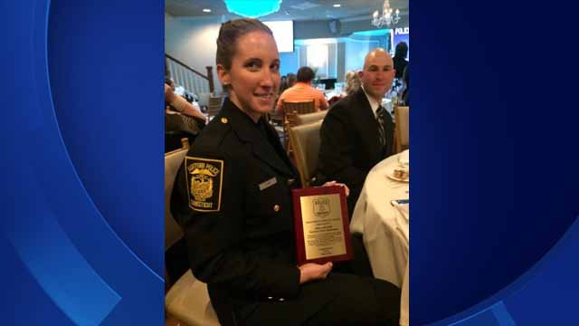 Officer Jill Kidik was awarded the Lifesaving Award from the Hartford Police Department. (Hartford police photo)