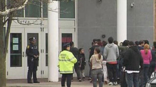 "Sand Elementary School was evacuated after ""a vague unsubstantiated social media threat,"" police said. (WFSB photo)"