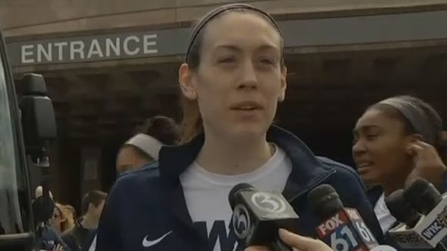 Breanna Stewart is The Associated Press Player of the Year in women's college basketball for a record third time. (WFSB)