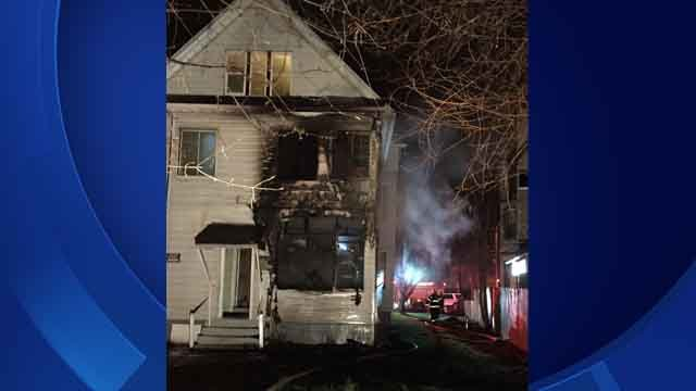 Eleven people were displaced from a home in Hartford early Sunday morning after a fire. (Patrick Dooley)