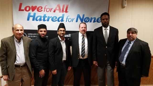 A peace event was held at a mosque in Meriden on Saturday. (Zahir Mannan)