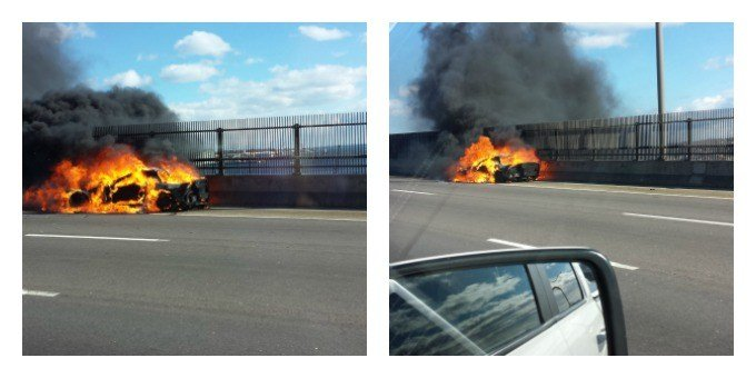 GoldStar Bridge Car Fire