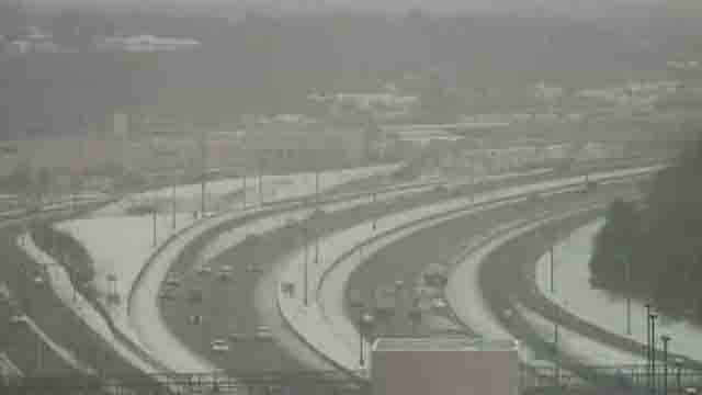 Travel conditions deteriorated in Waterbury on Monday afternoon