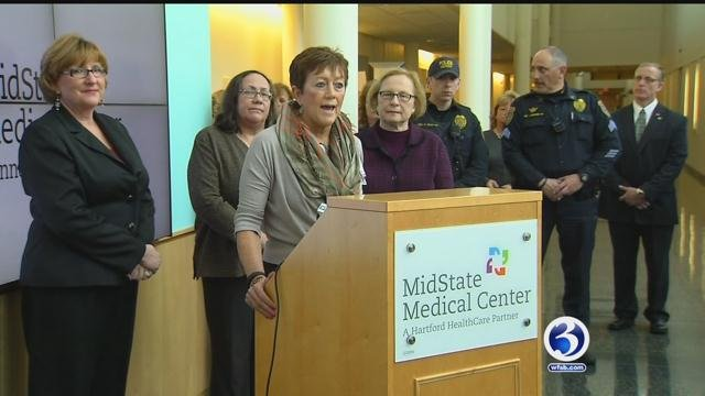 Connecticut lawmakers, police and health officials raise awareness of safe haven laws. (WFSB)