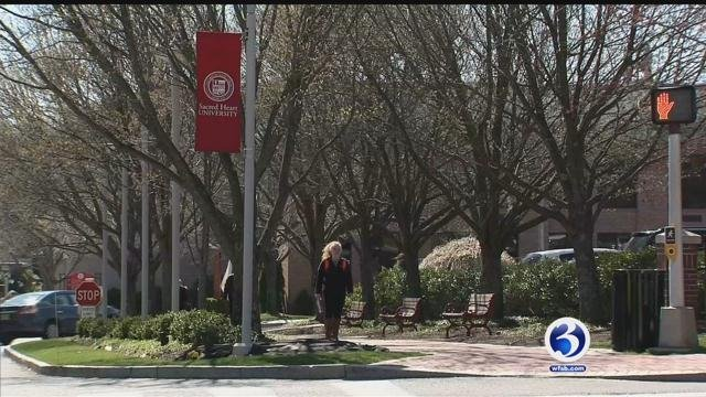 Eight laboratory cases have been identified at Sacred Heart University in Fairfield. (WFSB photo)