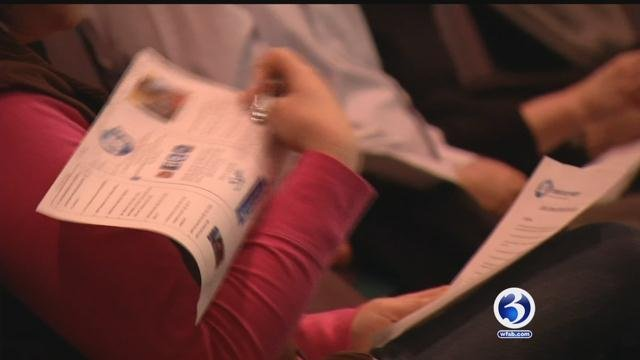Parents attended an online safety forum in Suffield Tuesday night. (WFSB photo)