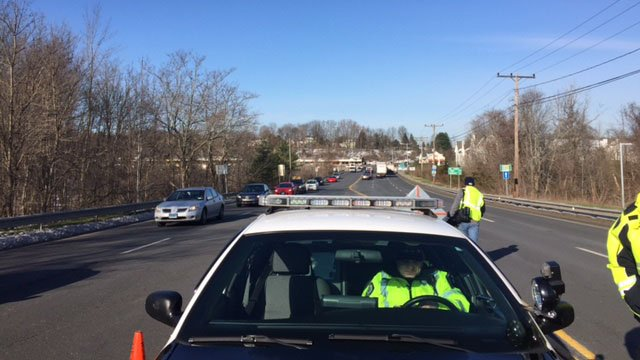 Rocky Hill Police Department were setup at the most accident-prone intersections in town. (WFSB)