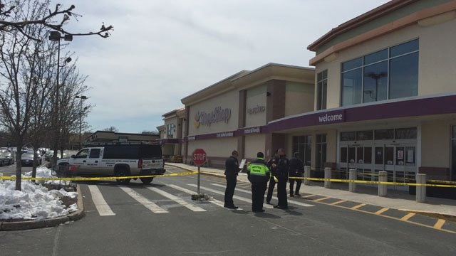 A woman was struck by a vehicle in front of Stop & Shop in Rocky Hill. (WFSB photo)