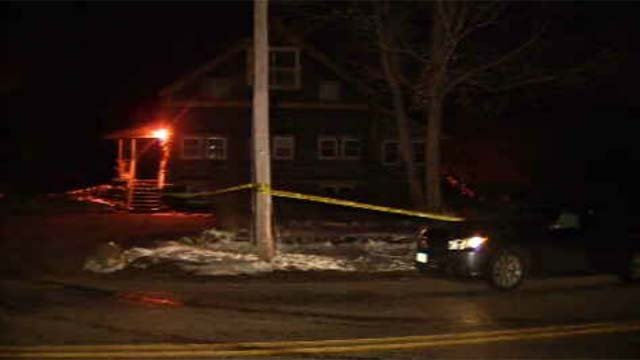 An active police investigation was underway in Mansfield on Wednesday night at a home on Spring Hill Road. (WFSB)